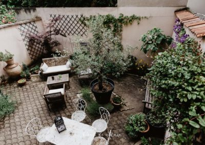 Patio de la Villa Prince d'Annam Chambre d'hôtes à Vichy